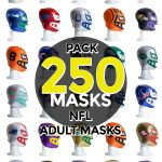 Wholesale NFL Assorted Teams pack of 250 lucha libre foam adult masks