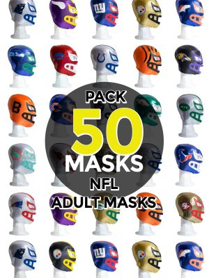 Wholesale NFL Assorted Teams pack of 50 lucha libre foam adult masks