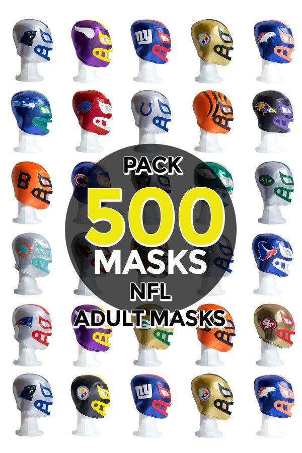 Wholesale NFL Assorted Teams pack of 500 lucha libre foam adult masks