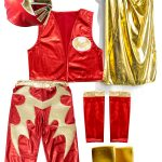 SIN CARA Red kid costume – Lycra pants mask and vest