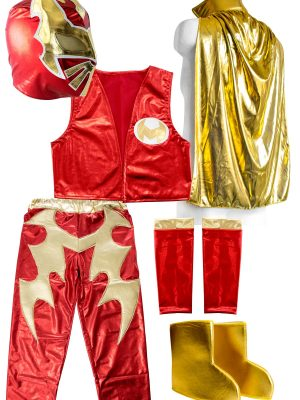 SIN CARA Red kid costume - Lycra pants mask and vest