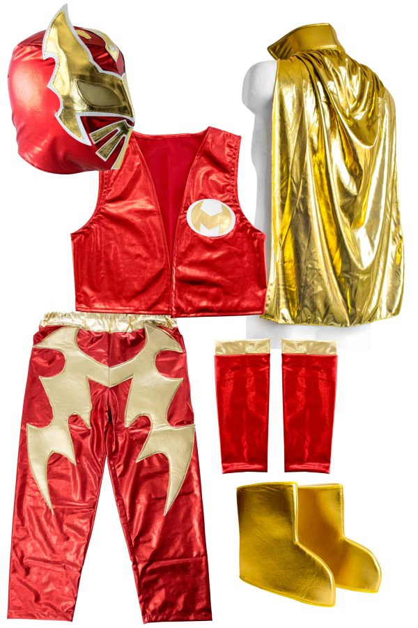 SIN CARA Red kid costume - Lycra pants mask and vest