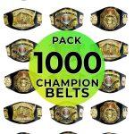 Championship belts 1000